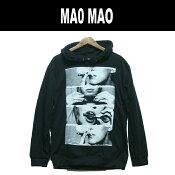 【送料無料】MAO MAO プルオーバーパーカー ストリート系 フード付き スウェット セクシガール スモーク メンズ