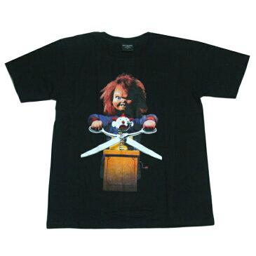 【送料無料】Broadway 映画Tシャツ コットンTシャツ ブラック メンズ チャッキー チャイルドプレイ Child's Play 殺人人形 ホラー映画 アメリカ おしゃれ スケーター ストリート系 M/L/XL 大きいサイズ 半袖