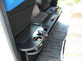200系ハイエースS・GLナロー用リアカウンターテーブル溝付き