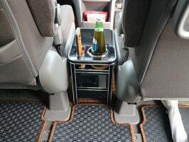 【売り切りお買い得】RP系ステップワゴン(15/4〜)フロントセンターテーブルAタイプマッドブラックオールブラック