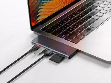 5in1 USB C ハブ USB Type C ハブ 変換 USB3.0 ハブ PD対応 急速充電 TF/SDカードリーダー USB3.0ポート20V/3A max