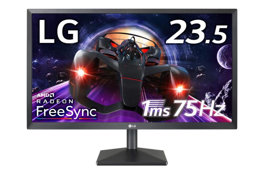 LG ゲーミング モニター ディスプレイ 24MK400H-B 23.5インチ/フルHD/TN非沢/1ms(GtoG)/75Hz/FreeSync/HDMI,D-Sub/フリッカーセーフ,ブルーライト低減画像