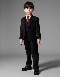 入学式 卒業式 子供タキシード5点セット(スーツ・ネクタイ・ベストジレー・シャツ・ズボン)lacl 結婚式 男児 男の子 フォーマル 子供服(三歳 五歳)