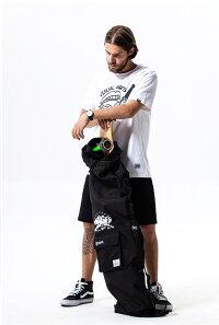 2wayスケボーバッグカバンケーススケートボードバッグショルダー迷彩おやれブラックユニセックス