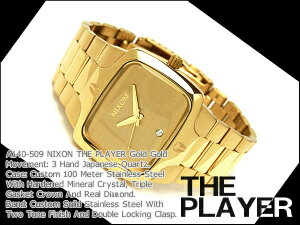 Nixon Mens Watches THE PLAYER player gold gold stainless steel A140-509