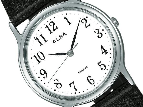 【SEIKO ALBA】セイコー アルバ スタンダード ペアウオッチ メンズ腕時計 ホワイト×ブラック AIGN007【正規品】【ネコポス不可】