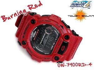 CASIO G-SHOCK Burning Red カシオ Gショック バーニングレッド 電波 ソーラー デジタル腕時計 ...