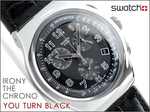 Swatch IRONY THE CHRONO スウォッチ アイロニー メンズ 腕時計 クロノグラフ YOU TURN BLACK Y...