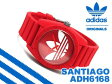 adidas アディダス SANTIAGO サンティアゴ メンズ腕時計 レッド ホワイト ラバーベルト ADH6168【ネコポス不可】【あす楽】