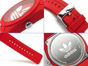 【adidas】アディダスSANTIAGOサンティアゴメンズ腕時計レッドホワイトラバーベルトADH6168