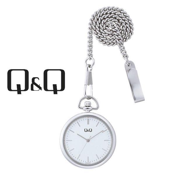 ネコポス  1年保証 シチズンCITIZENQ&Qキューキューポケットウォッチクオーツ懐中時計QA70-201