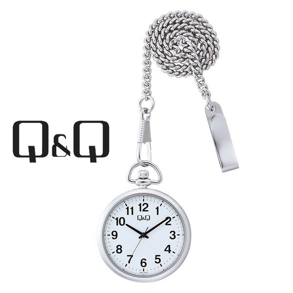 ネコポス  1年保証 シチズンCITIZENQ&Qキューキューポケットウォッチクオーツ懐中時計QA70-204