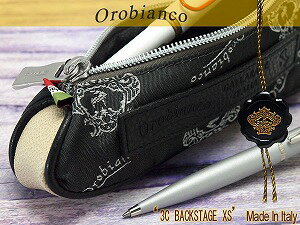Orobianco orobianco 3 C 後臺 XS 鉛筆主機殼徽標灰色 × 黑色皮革 7025556 貓 POS 可用