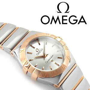 OMEGAオメガコンステレーションレディース腕時計ホワイトシルバー×ピンクゴールドポリッシュステンレスベルト123.20.24.60.02.003