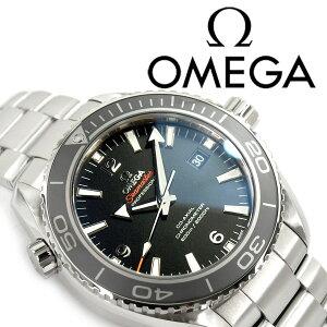 OMEGAオメガシーマスタープラネットオーシャン600M自動巻き機械式メンズ腕時計ブラックダイアルステンレスベルト232.30.46.21.01.001【ネコポス】