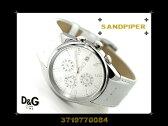 Dolce&Gabbana ドルチェ&ガッバーナ メンズ腕時計 SANDPIPER ホワイトダイアル×ホワイトレザー 3719770084 ネコポス不可【あす楽】