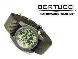 【正規品】BERTUCCIベルトゥッチクォーツメンズ腕時計ポリレジンオリーブグリーンケースカモフラージュナイロンベルトBE-11029【送料無料】【ネコポス】
