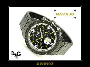 Dolce&Gabbanaドルチェ&ガッバーナメンズ腕時計NAVAJOイエロー&ブラックダイアル×ガンメタルケース&ステンレスベルトDW0193ネコポス