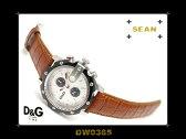 D&G ドルチェ&ガッバーナ メンズクロノグラフ腕時計 SEAN シルバーダイアル ブラウンレザーベルト DW0365 ネコポス不可
