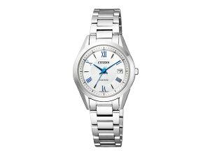 【CITIZENEXCEED】シチズンエクシードエコ・ドライブ電波レディース腕時計シルバーダイアルES1040-61A