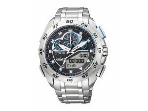 【CITIZENPROMASTER】シチズンプロマスターエコ・ドライブメンズ腕時計ブラック/液晶ダイアルJW0121-51E