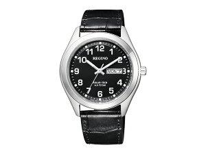 【CITIZENREGUNO】シチズンレグノソーラーテックメンズ腕時計ブラックダイアルKM1-016-50