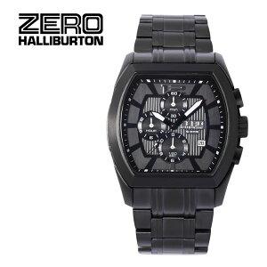【ZEROHALLIBURTON】ゼロハリバートン腕時計クロノグラフデイトゼロハリアタッシュキャリースーツビジネスリモアアルミセイコーコラボSEIKOプロスペックスブラックZW002B-02