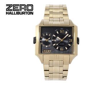 【ZEROHALLIBURTON】ゼロハリバートン腕時計デュアルタイムデイトゼロハリアタッシュキャリースーツビジネスリモアアルミセイコーコラボSEIKOプロスペックスブラックZW004G-02