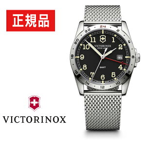 【VICTORINOX】ビクトリノックスINFANTRYインファントリーレトロミリタリークォーツメンズ腕時計ブラックシルバー241649