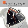 HAMILTON ハミルトン ベンチュラ VENTURA Elvis80 エルビス メンズ 腕時計 三角形 アナログ ステンレススティール ブラック シルバー スイス製 H24551131