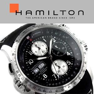 HAMILTONハミルトンKhakiAviationカーキX-WindAutoChronoアナログ腕時計クロノグラフ自動巻きメンズブラックシルバーH77616333