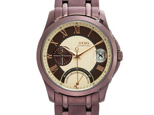 【STAG】スタッグBusinessLineメンズ腕時計ベージュダイアルSTG002B1