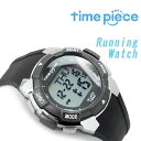 【time piece】タイムピース 20ラップ計測 クオーツ メンズ レディース ユニセックス デジタル ワールドタイム 腕時計 アラーム付 ブラック TPW-004BK