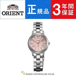 【Orient】オリエントイオスウィートジュエリーiO電波スワロフスキー日本製ソーラーレディース腕時計ピンク文字盤シルバーWI0011SD
