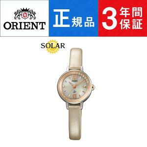 【Orient】オリエントイオスウィートジュエリーiOスワロフスキー日本製ソーラーレディース腕時計ホワイト文字盤ゴールドWI0231WD