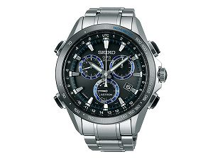 【SEIKOASTRON】セイコーアストロンGPSソーラーウォッチソーラーGPS衛星電波時計腕時計メンズクロノグラフブラックダイアルSBXB099