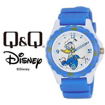 【ネコポス配送で送料無料】【レビューを書いて1年保証】シチズン CITIZEN Q&Q キューキュー Disney ディズニー ダイバー ウォッチ レディース 腕時計 ドナルドダックモデル HW02-004