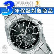 Seiko wired new standard mens watch solar multifunction black AGAD032
