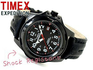 Timex EXPEDITION men's watch black leather belt T49778