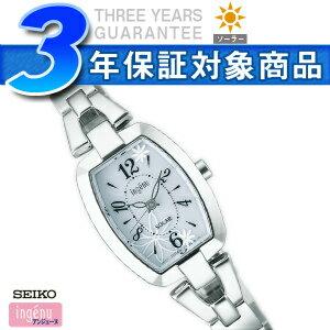 【SEIKOALBAingenu】セイコーアルバアンジェーヌレディース腕時計トノーフラワーソーラーホワイトAHJD061【正規品】【送料無料】