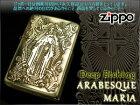 【ZIPPO】ジッポオイルライター両面加工アラベスクマリア真鍮ARABESQUE-MARIA-G