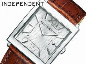 【INDEPENDENT】インディペンデントメンズ腕時計CITIZENシチズンシルバーブラウンBQ1-115-10【送料無料】【正規品】