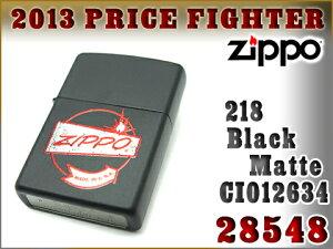 【ZIPPO】ジッポオイルライター片面加工218ブラックマット28548ZIP-28548