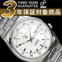 セイコーセイコー5SEIKO5セイコーファイブ日本製メンズ腕時計SNK559J逆輸入セイコー自動巻きメカニカル機械式ホワイトメタルベルトSNK559J1SNK559JC3年保証メンズ腕時計男性用seiko5日本未発売ビジネス【楽ギフ_包装】