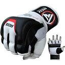 RDX カウハイド レザー製 グラップリング グローブ 各種サイズ MMA 格闘技 トレーニング RDZG244 Sサイズ 白