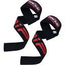 RDX リストストラップ トレーニング ウェイト リフティング プロシリーズ 筋トレ 滑り止めパッド付き 両手 セット ブラック 正規品