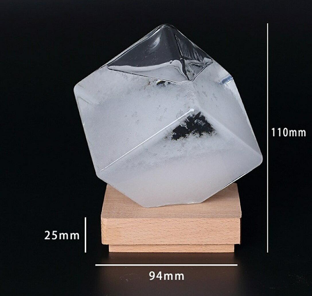 ストームグラス テンポドロップ ガラス天気予報ボトル ストーム瓶 Tempo Drop Large 気象予報機 結晶観察器 正方形 インテリア 創意的な贈り 並外れ