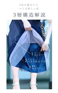 ▼▼(ブルー)「frenchpave」柔らかく重ねたチュール。グラデーションベールスカート2月20日22時販売新作