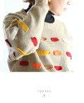 ***「YOHAKU」カラフルに連なる編みモチーフのニット11月29日22時販売新作