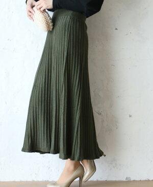 (S~M対応)【再入荷♪1月19日12時&22時より】「FRENCH PAVE」温もりある素材の着まわしやすいカラースカート
